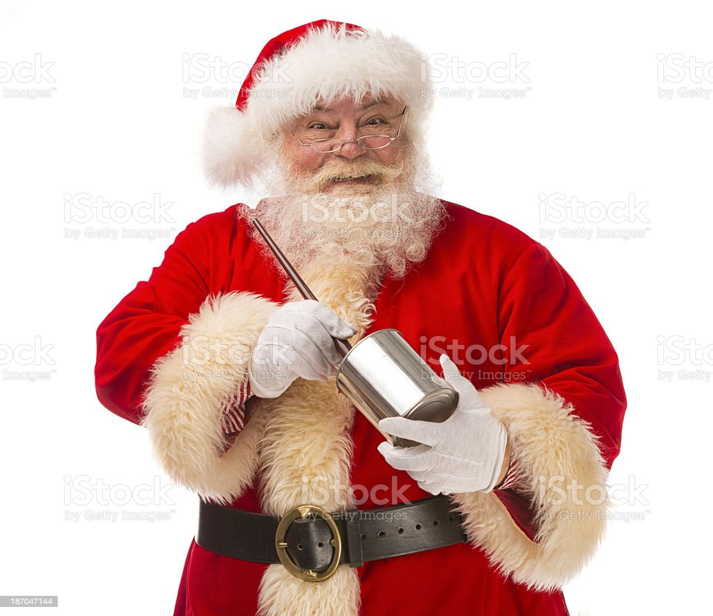 Pictures of Vintage Real Santa Claus painting. royalty-free stock photo