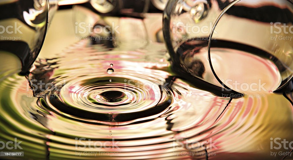 Pictures water drops a beautiful shape. royalty-free stock photo