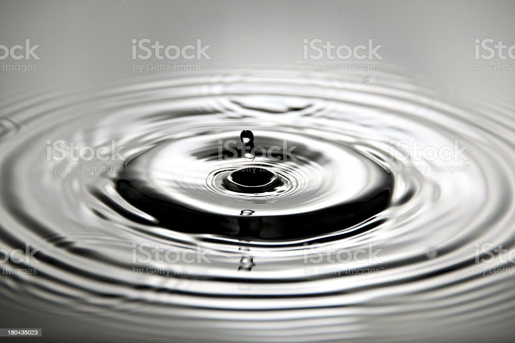 Pictures water drops beautiful shape and Expansion is broad. royalty-free stock photo