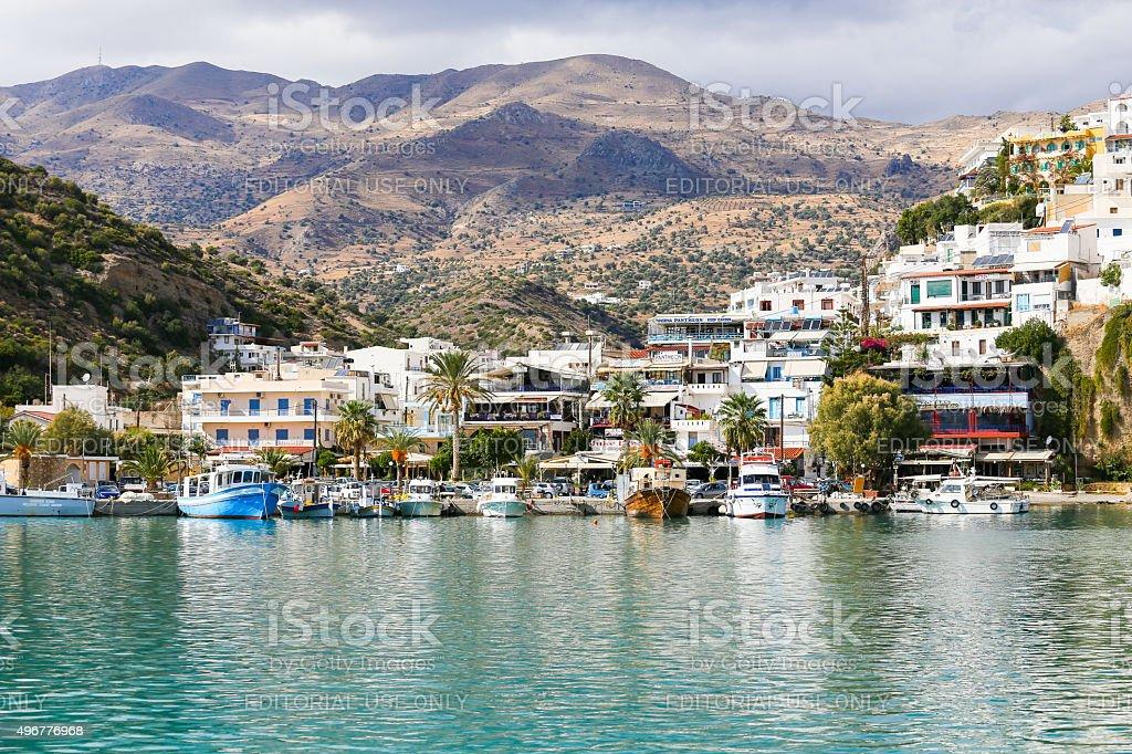 Picturesque Agia Galini stock photo