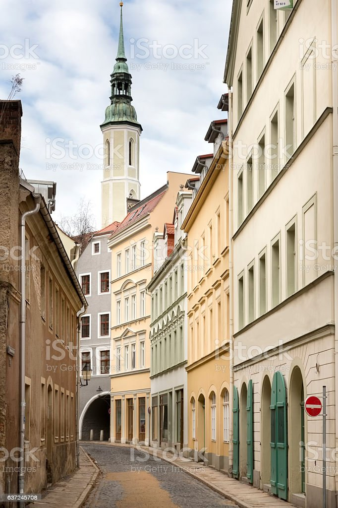 Picturesque alley in the town of Goerlitz, Germany stock photo