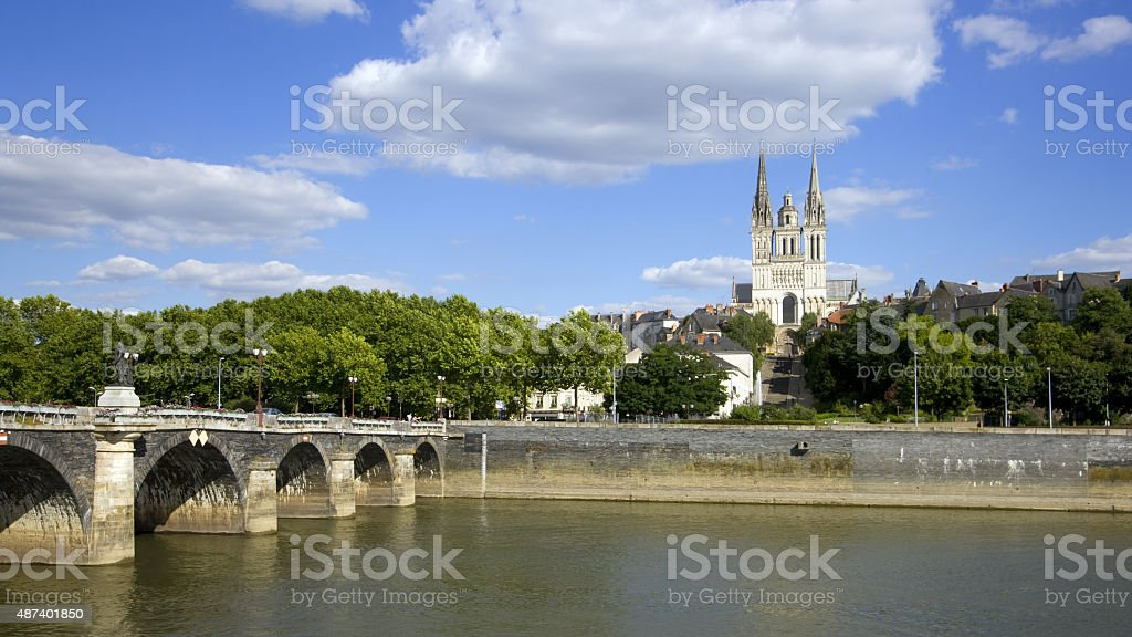 Picturesque Angers, France stock photo
