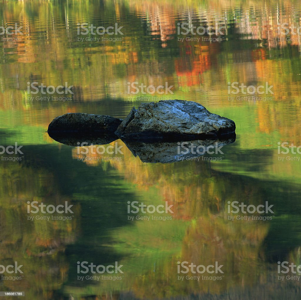 Picturesque autumn landscape of river royalty-free stock photo