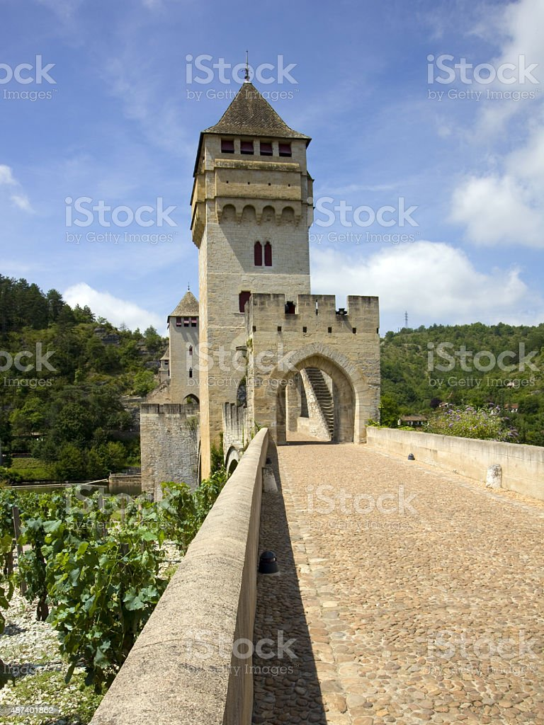 Picturesque Cahors, France stock photo