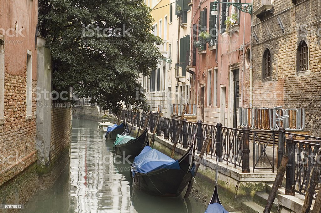 picturesque canal in Venice royalty-free stock photo