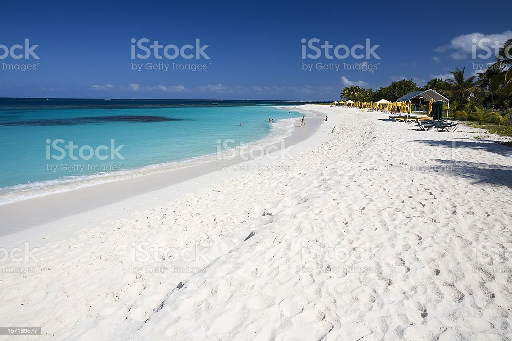 Picturesque Caribbean Beach stock photo