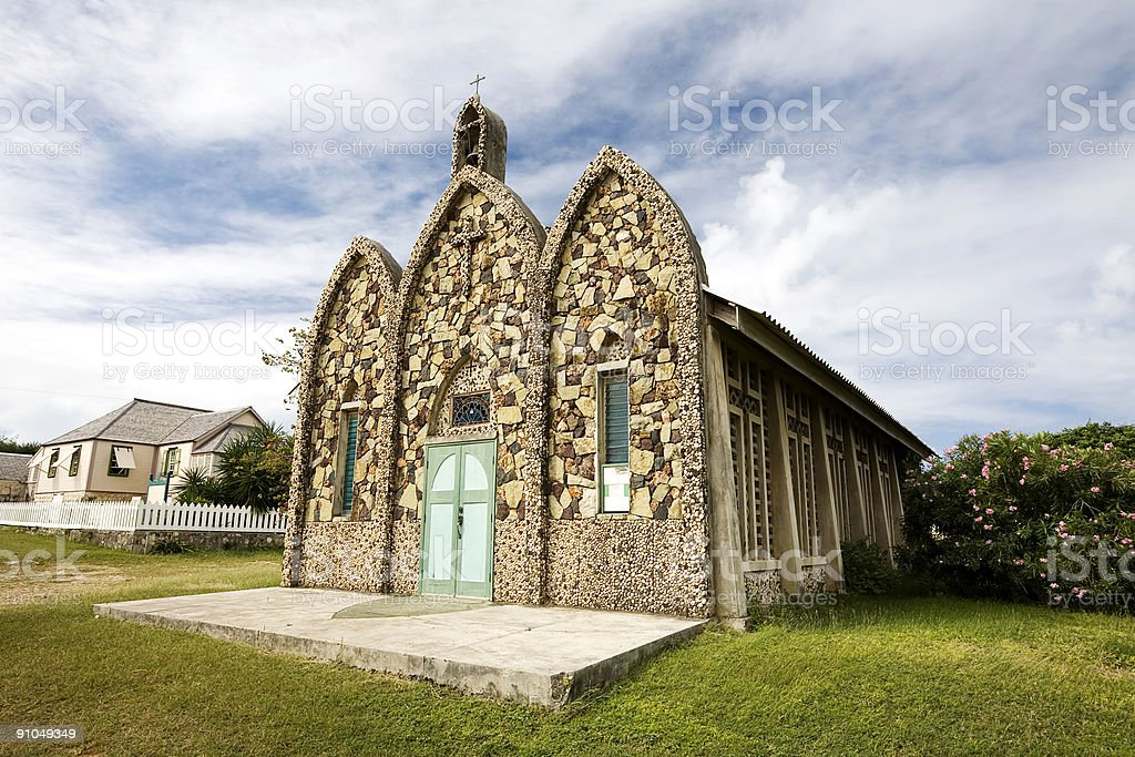 Picturesque Church, Anguilla stock photo
