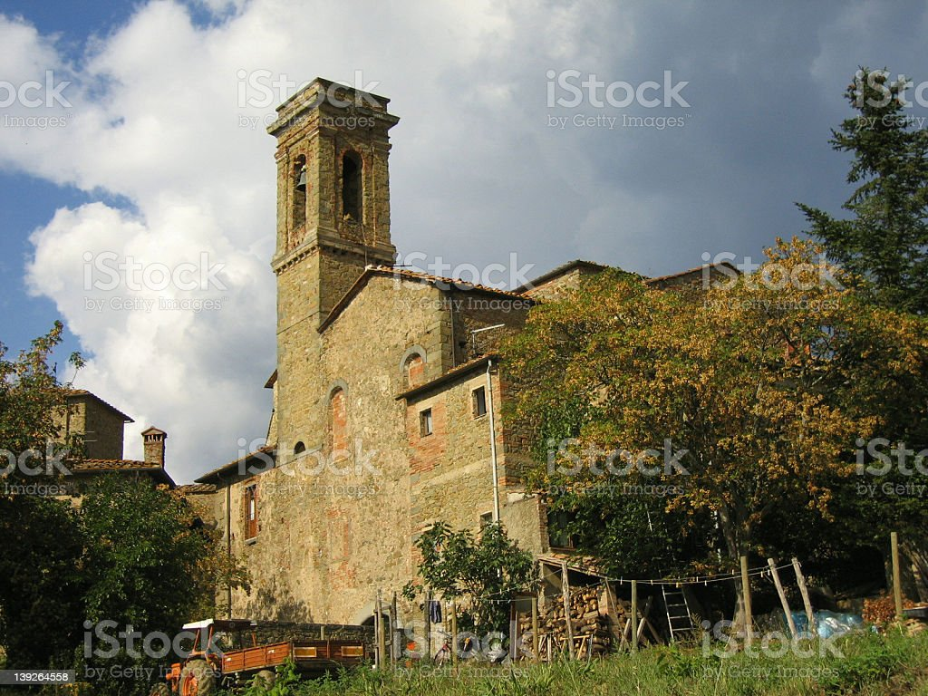 Picturesque Church in Volpaia royalty-free stock photo