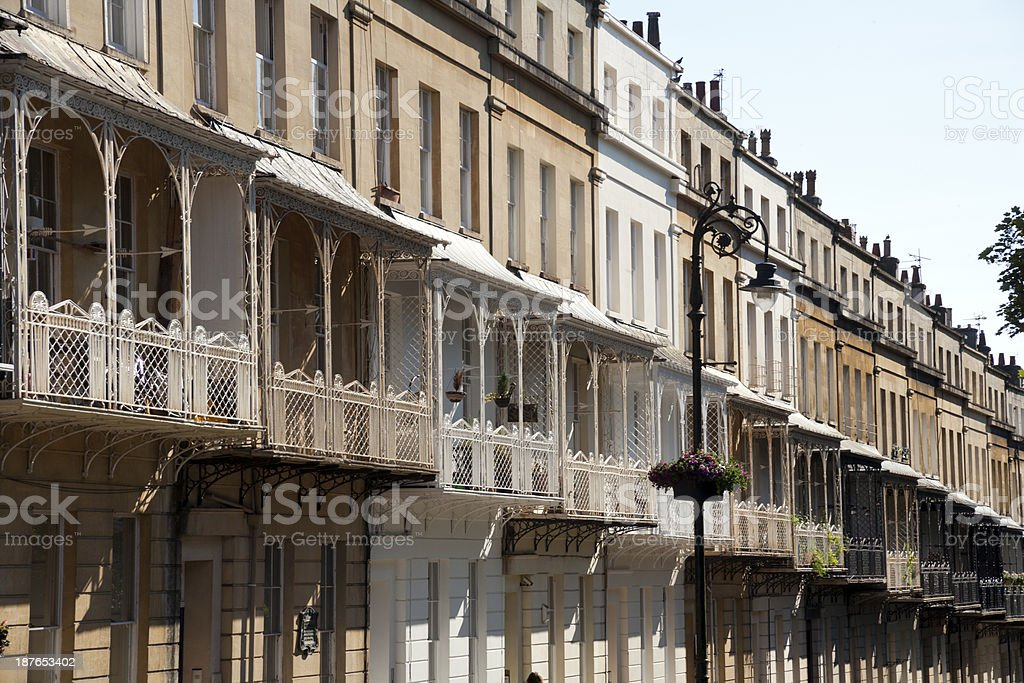 Picturesque City of Bristol - Clifton Village architecture stock photo