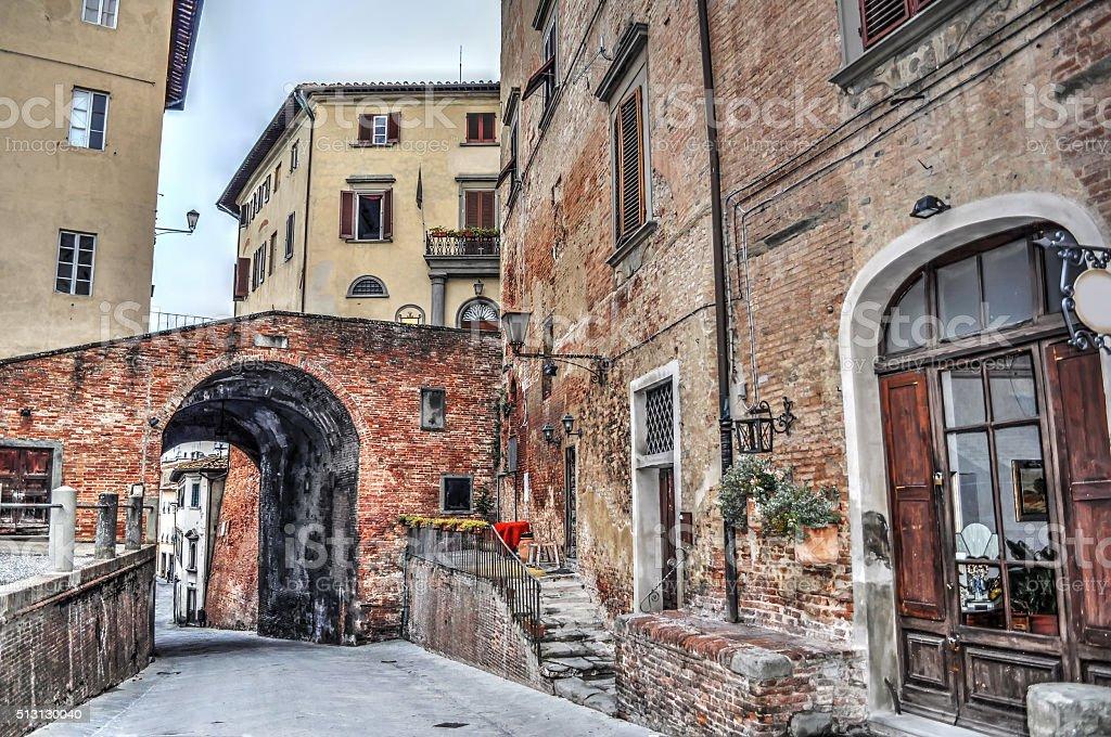 picturesque corner in San Miniato stock photo
