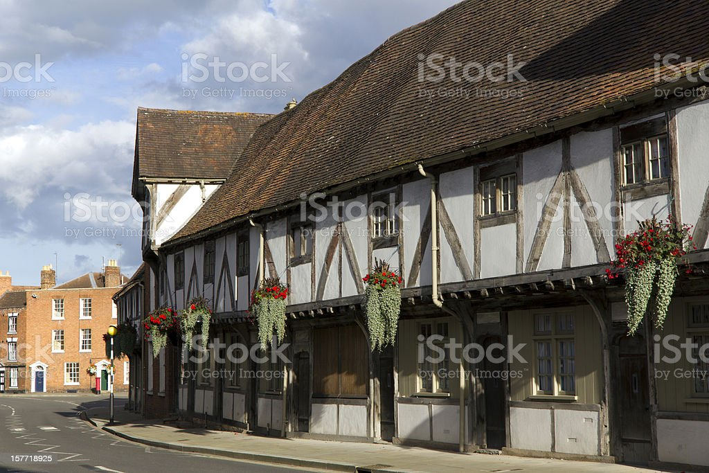 Picturesque corner in Tewkesbury, Gloucestershire, Severn Vale, UK stock photo