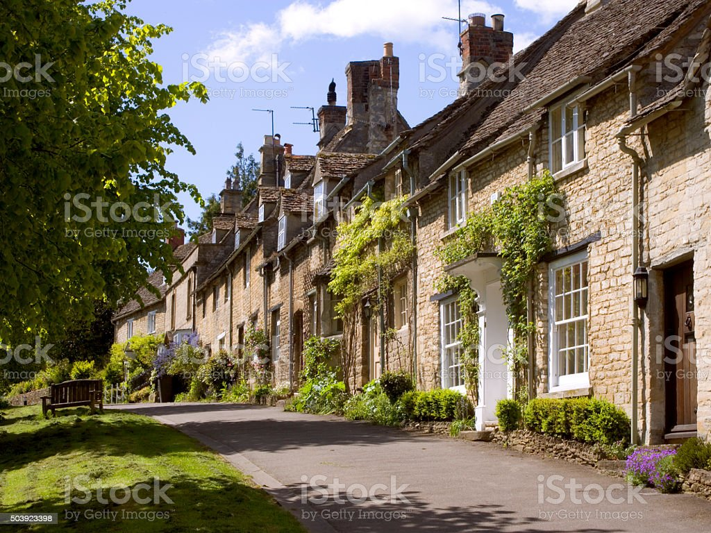 Picturesque Cotswolds,  Burford stock photo