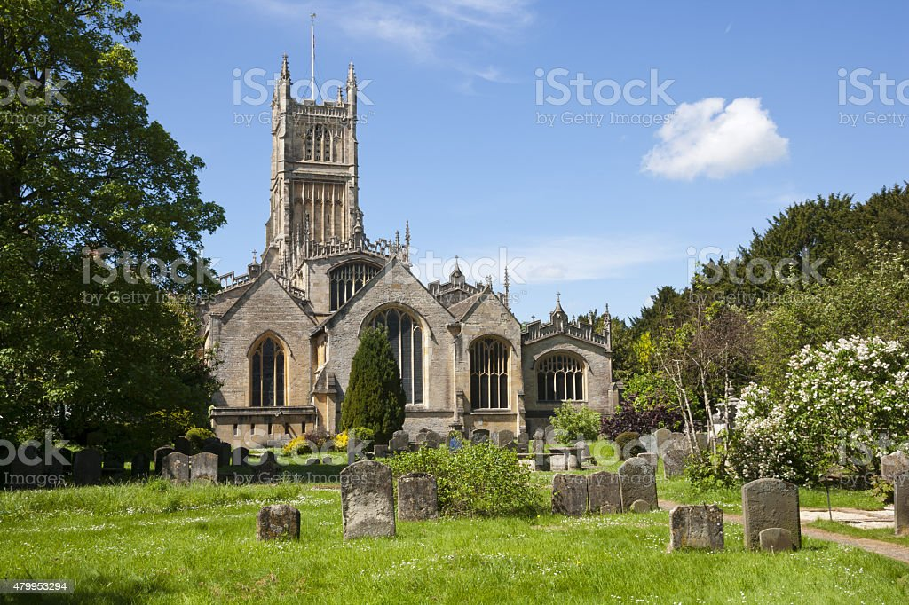 Picturesque Cotswolds, Cirencester Abbey Church stock photo