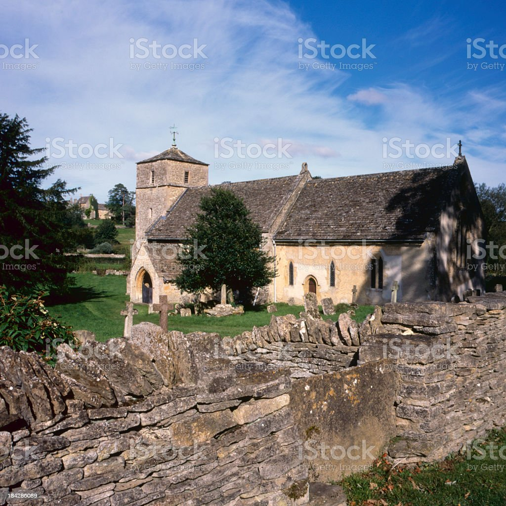 Picturesque Cotswolds - Eastleach stock photo