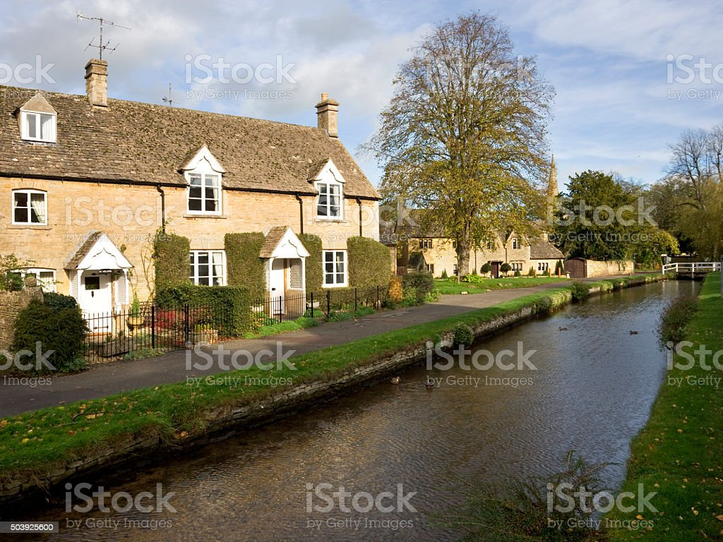 Picturesque Cotswolds,  Lower Slaughter stock photo