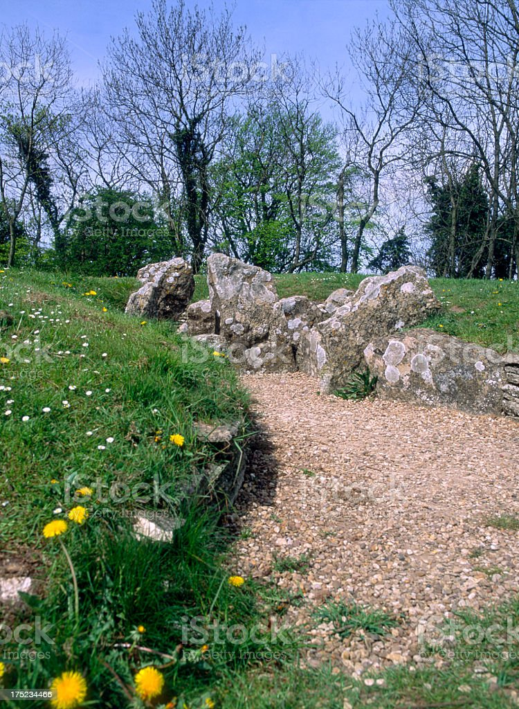 Picturesque Cotswolds - Nympsfield Long Barrow royalty-free stock photo