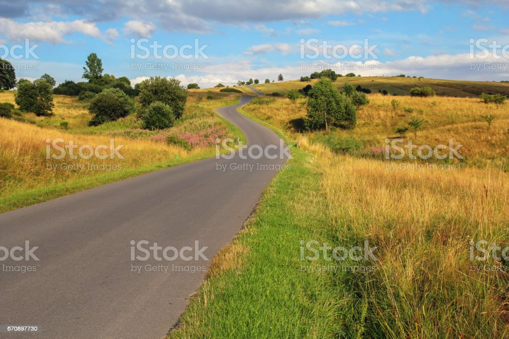 picturesque country road stock photo