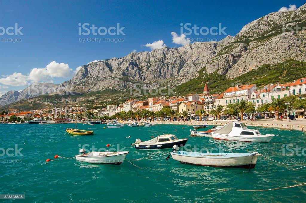 picturesque dalmatian landscape of makarska in croatia stock photo