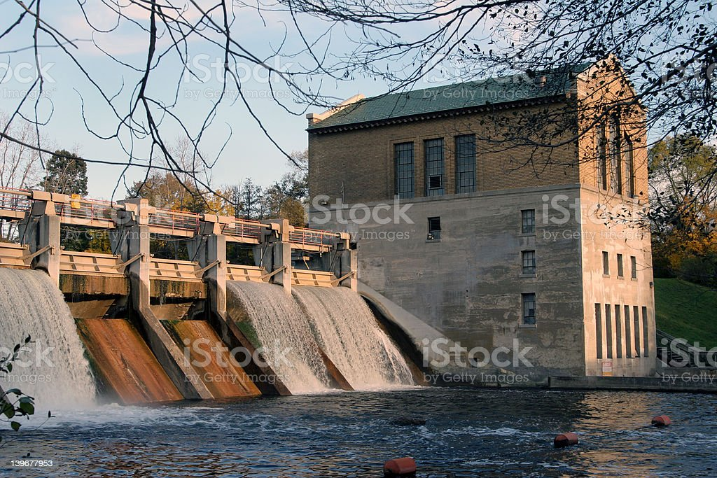 Picturesque dam royalty-free stock photo