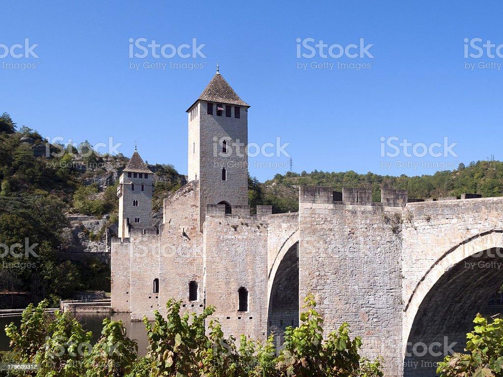 Picturesque France - Pont Valentre, Cahors stock photo