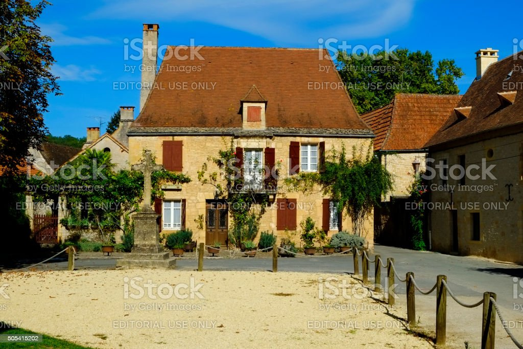 Picturesque France - Saint-Leon-sur-Vezere stock photo