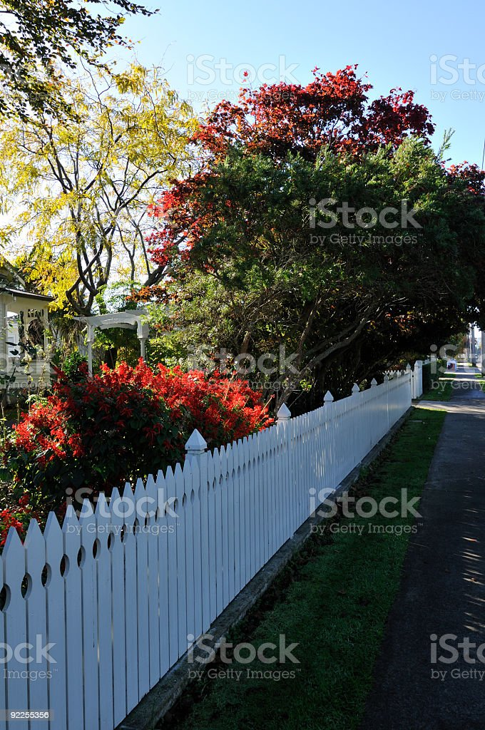 picturesque garden and path royalty-free stock photo