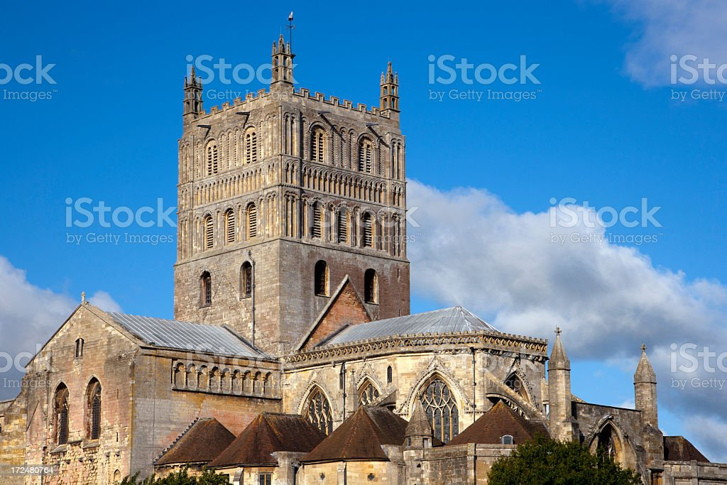 Picturesque Gloucestershire - Tewkesbury Abbey stock photo