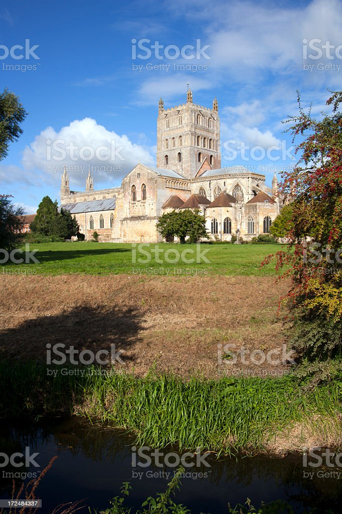 Picturesque Gloucestershire - Tewkesbury Abbey royalty-free stock photo