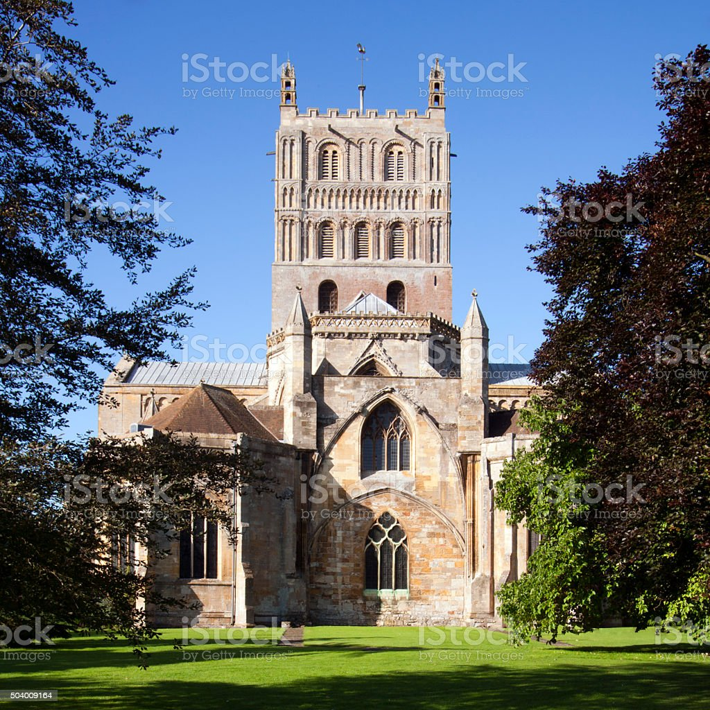 Picturesque Gloucestershire, Tewkesbury Abbey stock photo