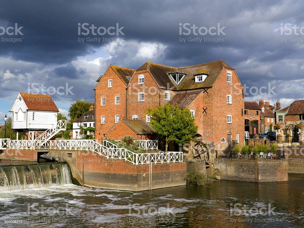 Picturesque Gloucestershire, Tewkesbury stock photo
