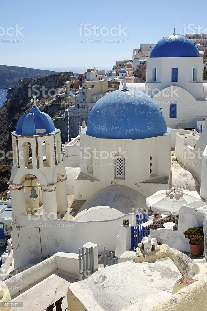 Picturesque Greek Island Town royalty-free stock photo