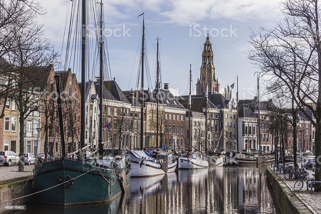 Picturesque Groningen Hoge der Aa stock photo
