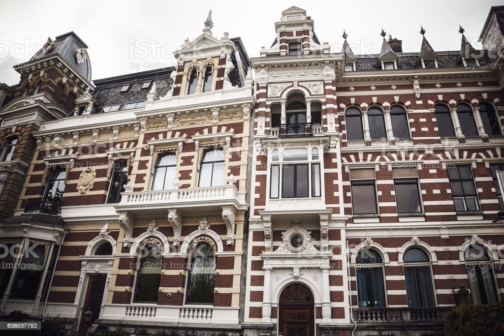 Picturesque historical building in Rotterdam, Netherlands. Stock stock photo
