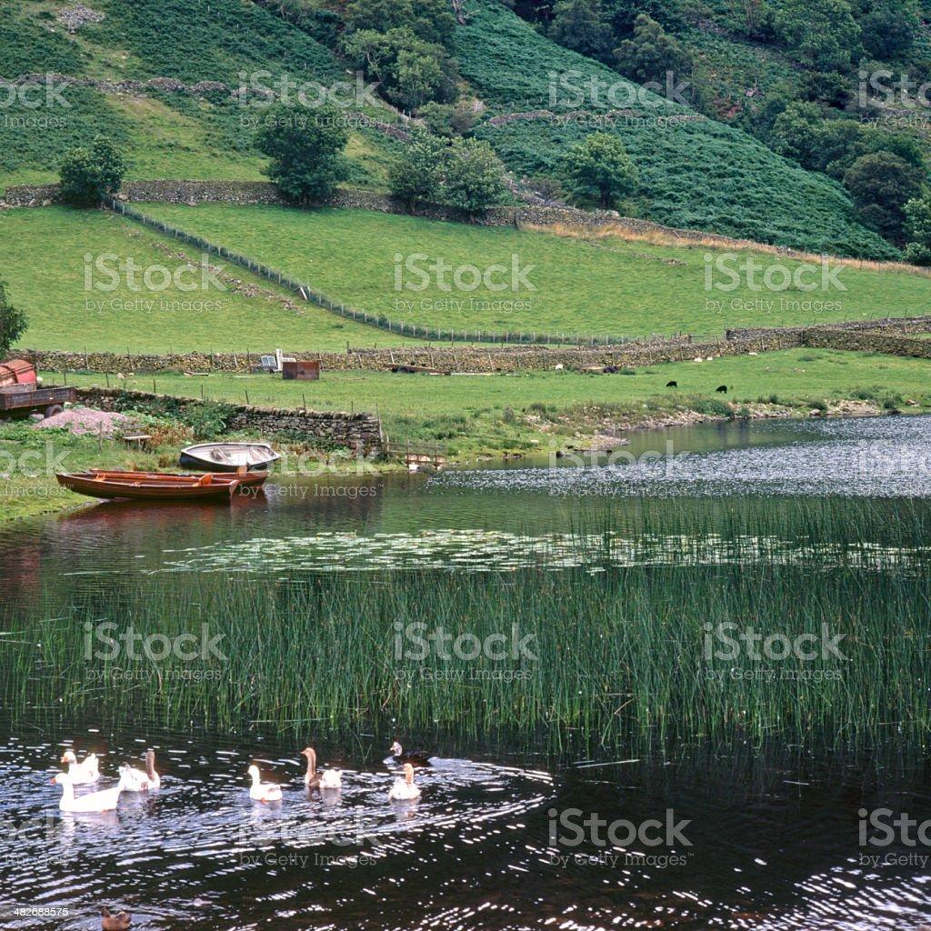 Picturesque Lake District, Watendlath Tarn stock photo
