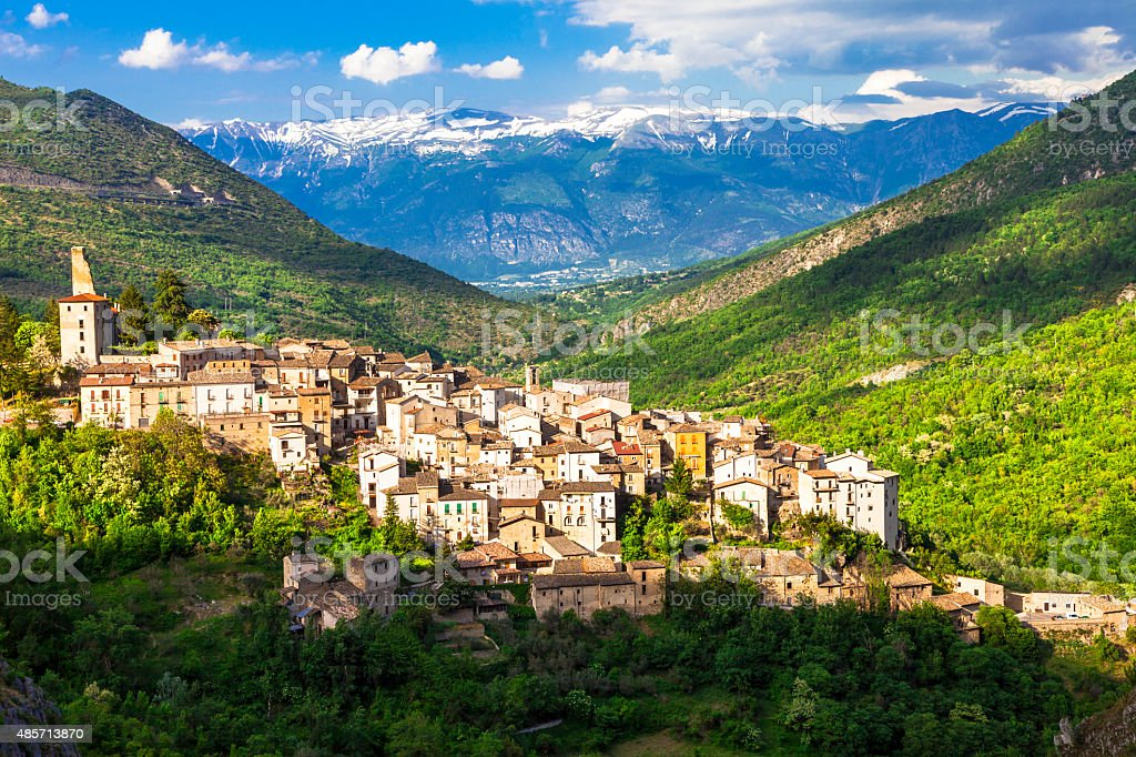Picturesque Landscapes Of Abruzzo,Italy. stock photo