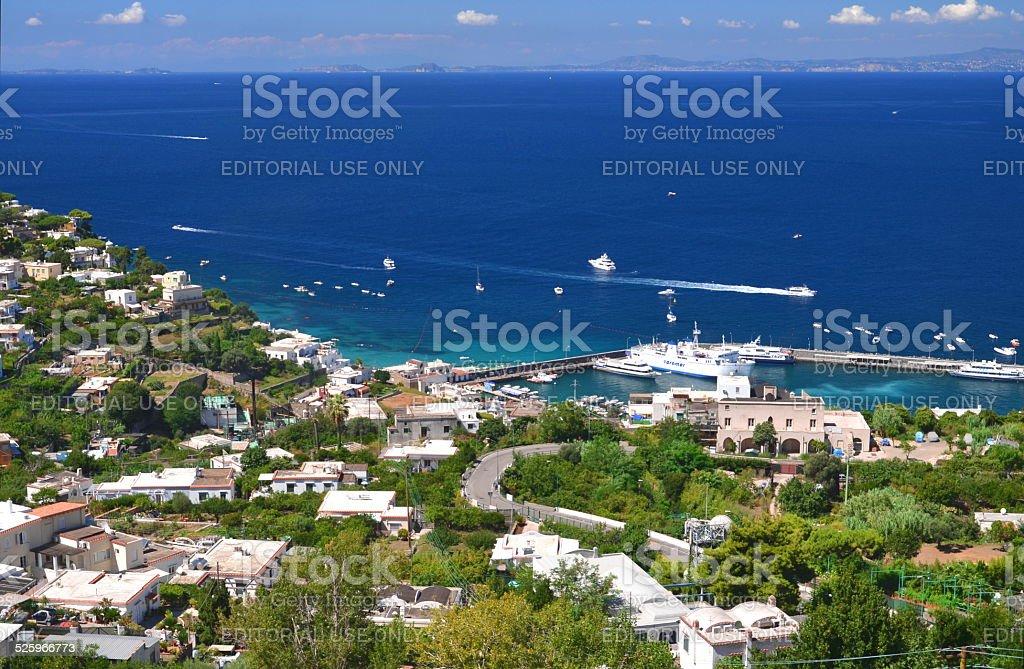 Picturesque Marina Grande on Capri island in Campania, Italy stock photo