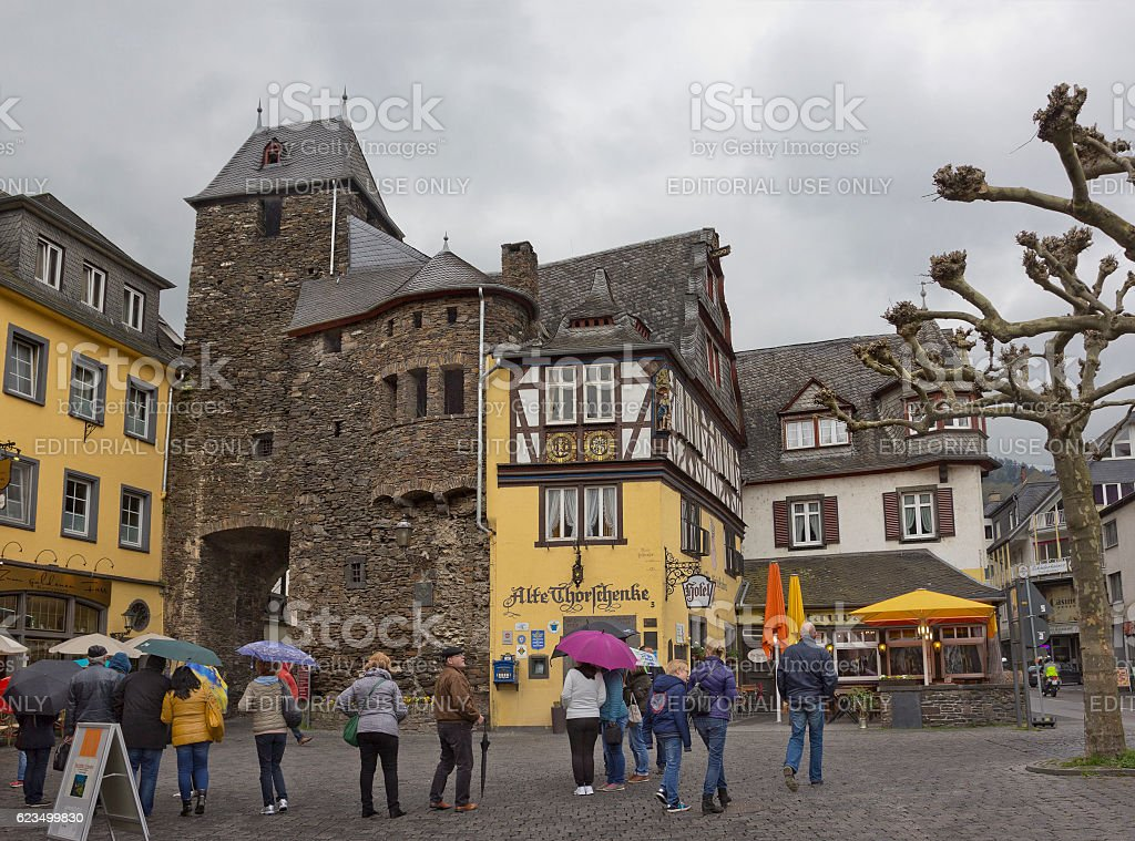 Picturesque medieval buildings in Cochem, Germany stock photo