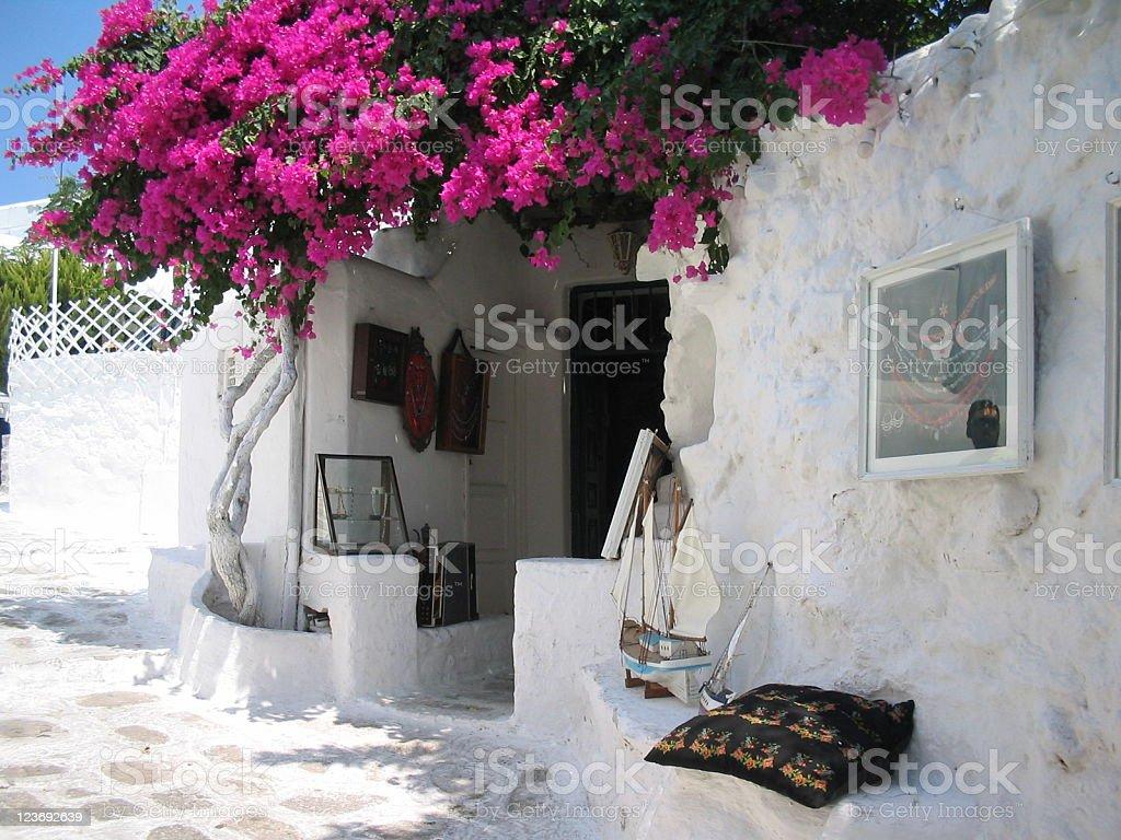 Picturesque Myconos stock photo