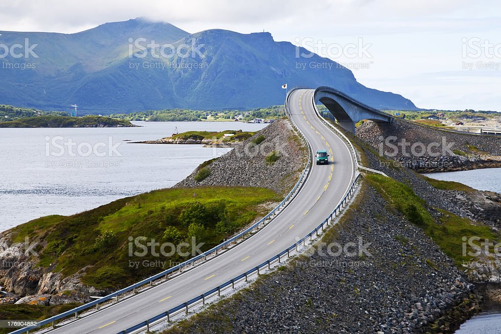Picturesque Norway landscape. Atlanterhavsvegen stock photo