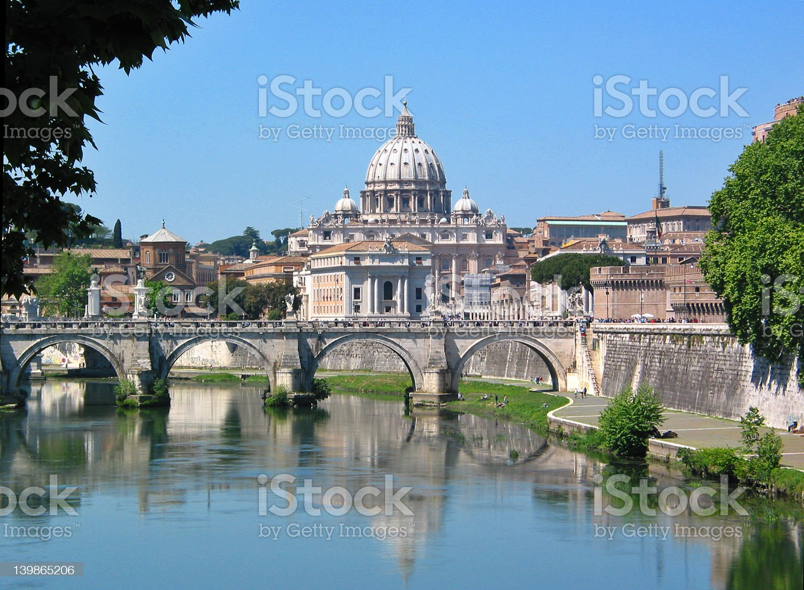 Picturesque ocean view of St Peters, Basilica on sunny day royalty-free stock photo