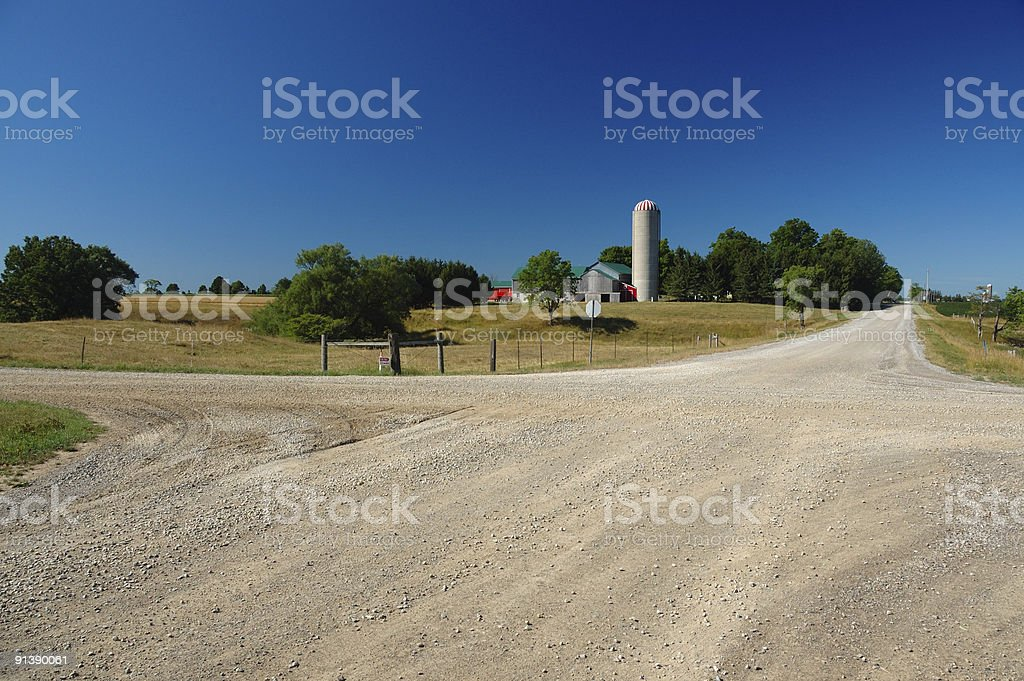 Picturesque Ontario countryside road stock photo