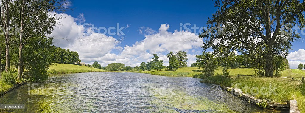 Picturesque pastoral water meadows royalty-free stock photo