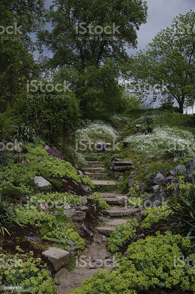 Picturesque path stock photo