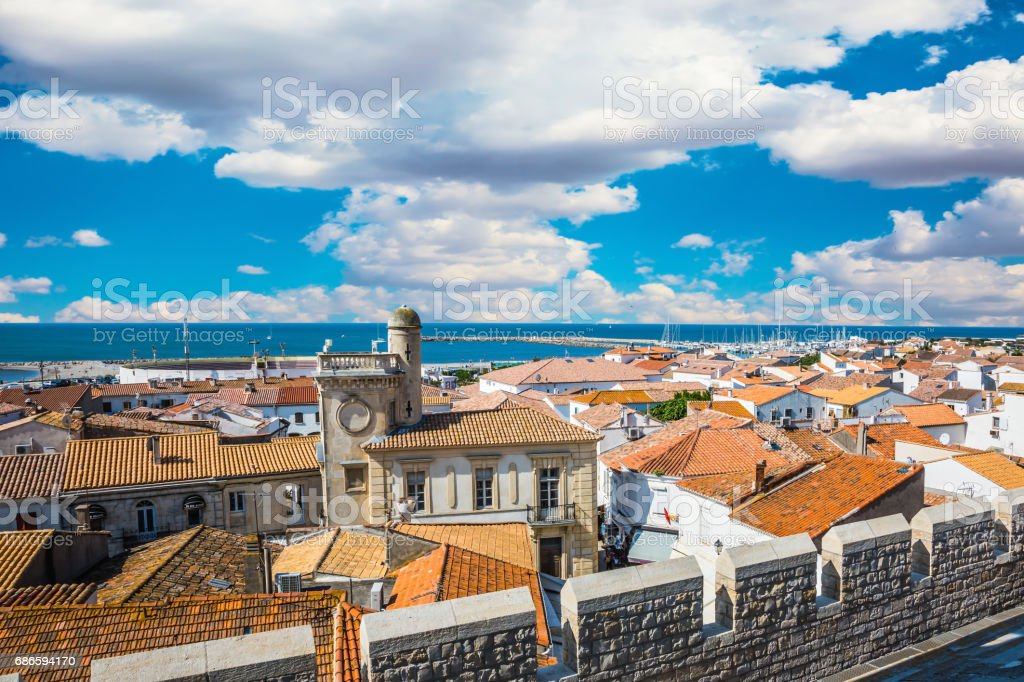 Picturesque Provencal city stock photo