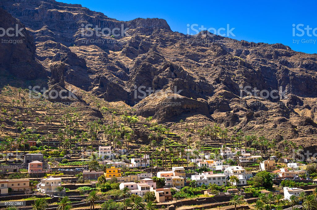 Picturesque setting of Valle Gran Rey stock photo