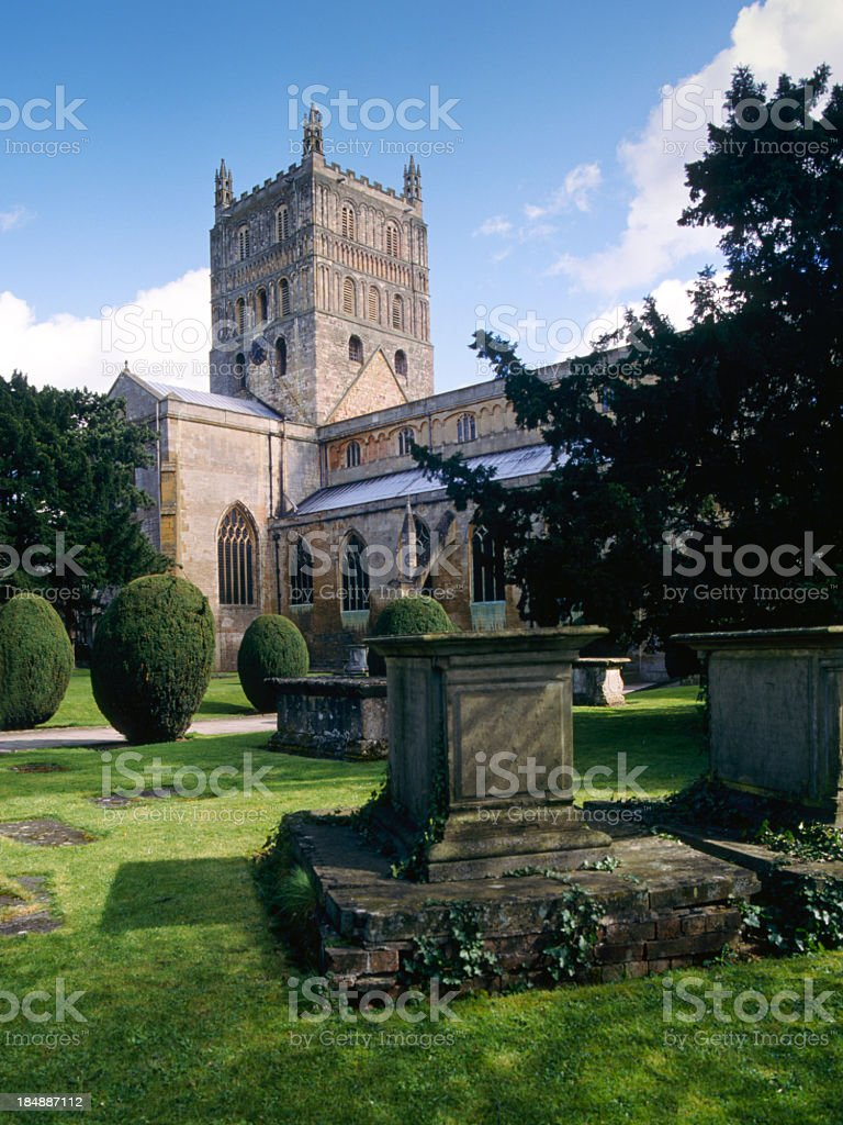 Picturesque Severn Vale - Tewkesbury Abbey stock photo