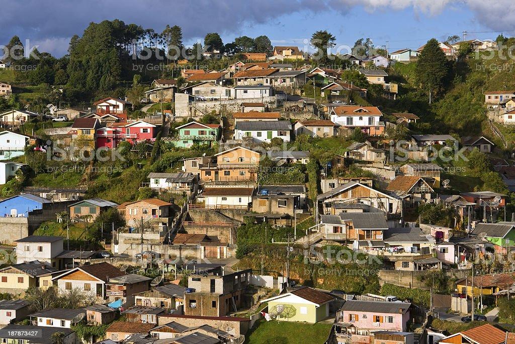 Picturesque slum background royalty-free stock photo