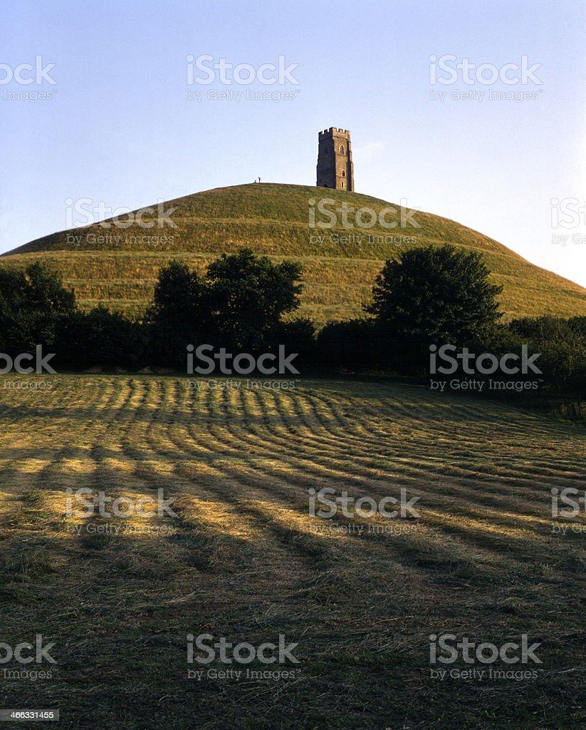 Picturesque Somerset - Glastonbury Tor stock photo