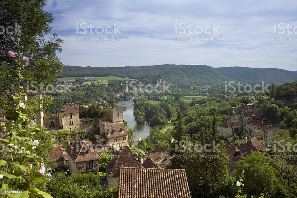 Picturesque South-West France - The Lot stock photo