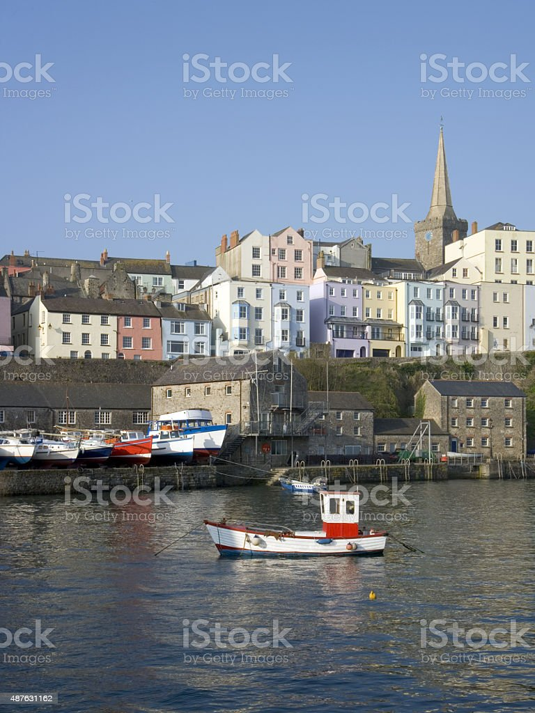 Picturesque Tenby, Wales stock photo